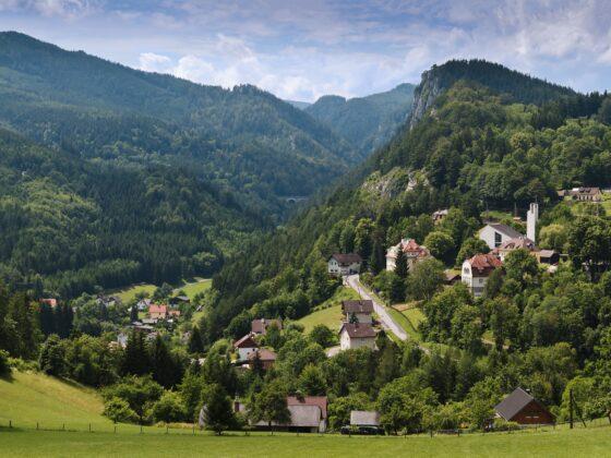 Semmering_Dorfblick Richtung Breitenstein